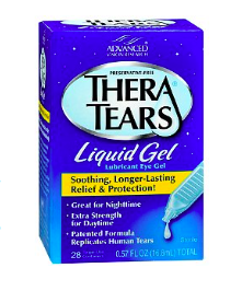 TheraTears gel for hybrid contact lenses
