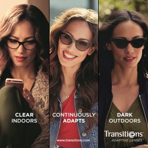 Adaptive transitions lenses