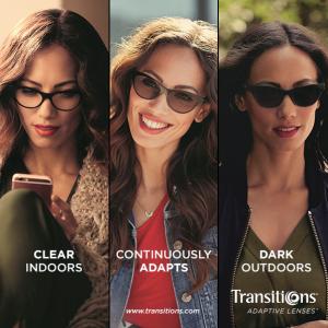 Adaptive transitions lenses